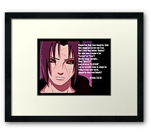 Itachi (Reality or Illusion) Framed Print