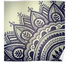 Beautiful Henna Hippie Flower Poster