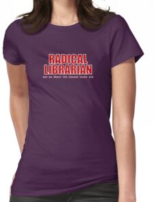 Radical Librarian (Red) Womens Fitted T-Shirt