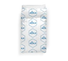 ajax programming language hexagon hexagonal sticker Duvet Cover