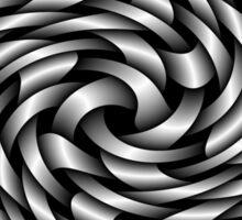 silver ribbons twist Sticker