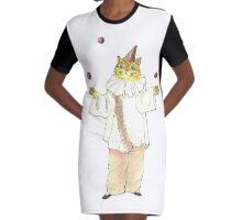 Clown Cat Graphic T-Shirt Dress