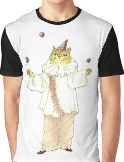 Clown Cat Graphic T-Shirt