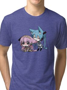 Cute Cat Girls Tri-blend T-Shirt