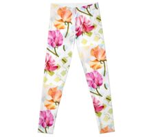 COLORFUL SWEET PEAS! Leggings