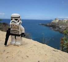 Dave Stormtrooper Tenerife above Beach by apawdesign
