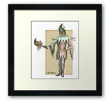 Clown Cat Framed Print