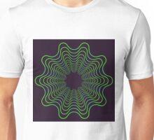 Green spirogram abstract design Unisex T-Shirt