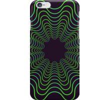 Green spirogram abstract design iPhone Case/Skin