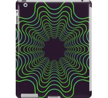 Green spirogram abstract design iPad Case/Skin