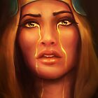 Golden Tears by nicolealesart