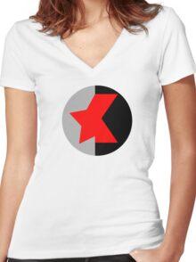 Winter Widow Women's Fitted V-Neck T-Shirt