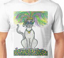 Meeneaux rhe Mardi Gras Cat Unisex T-Shirt