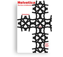 Helvetica Poster 2 Canvas Print