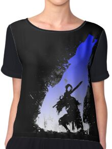 The walker of abyss VERSION WHITE/BLU Chiffon Top