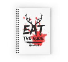 Hannibal - Eat the rude (bloody) Spiral Notebook