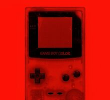 Gameboy Colour-Red by Ben Hamilton