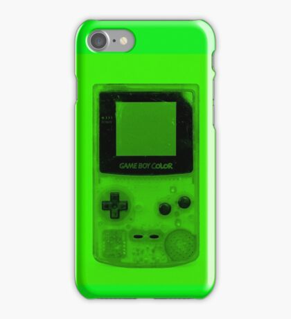 Gameboy Colour-Green iPhone Case/Skin