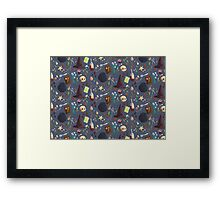 Witches pattern Framed Print