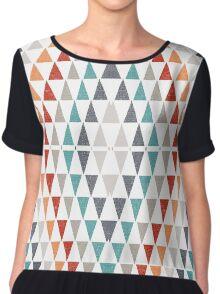 Triangles pattern Chiffon Top