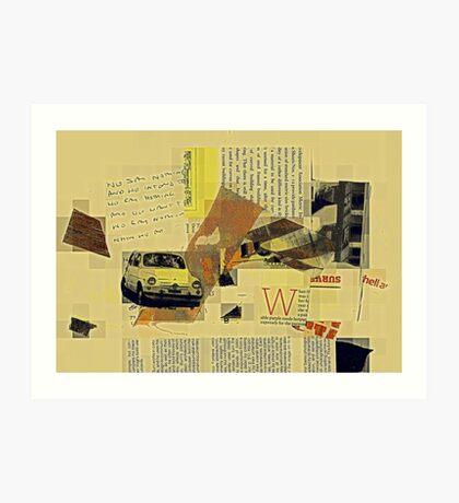 a quiet collision Art Print