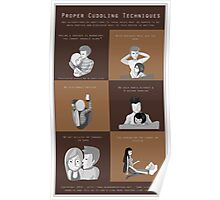 Proper Cuddling Techniques (Brown) Poster
