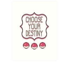 Pokémon - Choose Your Destiny Art Print