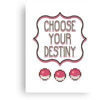 Pokémon - Choose Your Destiny Canvas Print