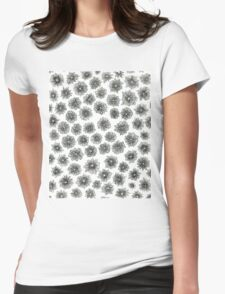 Cone Flower Pattern Womens Fitted T-Shirt