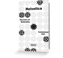 Helvetica Poster 3 Greeting Card