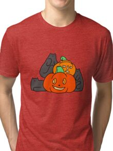 Cats and Pumpkins Tri-blend T-Shirt