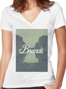 Brandé T-Shirt #1 Women's Fitted V-Neck T-Shirt