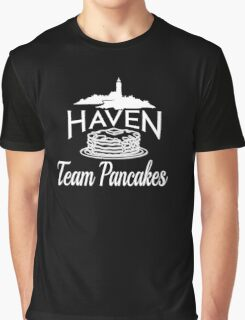 Haven Team Pancakes White Logo Graphic T-Shirt