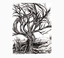 Twisted Tree, Ink Drawing Unisex T-Shirt