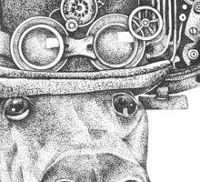 Steampunk Anubis, Black Greyhound Sticker