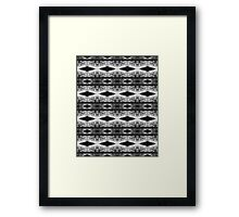Grey Geometric Lace Pattern Framed Print