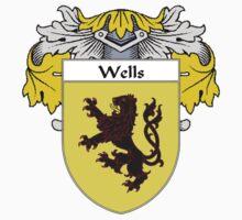 Wells Coat of Arms / Wells Family Crest Kids Tee