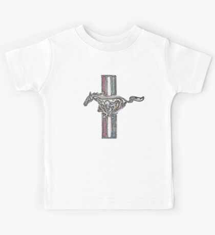 ford mustang, colored logo Kids Tee