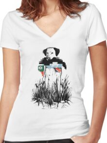 Famous Hunters Women's Fitted V-Neck T-Shirt
