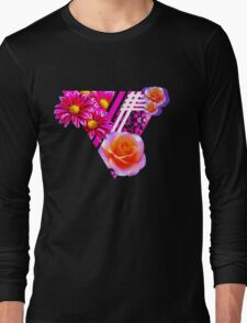 Floral shape print Long Sleeve T-Shirt