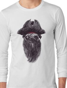 Capt. Blackbone the pugrate Long Sleeve T-Shirt