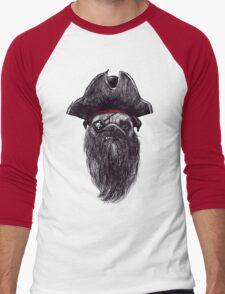 Capt. Blackbone the pugrate Men's Baseball ¾ T-Shirt