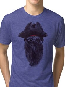 Capt. Blackbone the pugrate Tri-blend T-Shirt