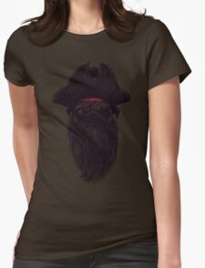 Capt. Blackbone the pugrate Womens Fitted T-Shirt