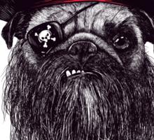 Capt. Blackbone the pugrate Sticker