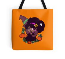 Black Cat and Witch Tote Bag