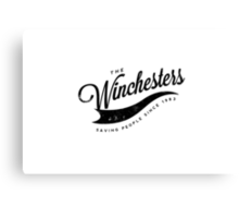 The Winchesters Vintage Logo 4 Canvas Print