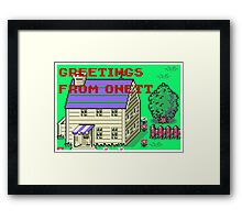 Earthbound Greetings From Onett Framed Print