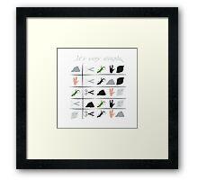 scissors rock paper spock lizard  Framed Print