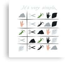 scissors rock paper spock lizard  Canvas Print